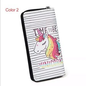 Time to be a Unicorn Zip Wallet